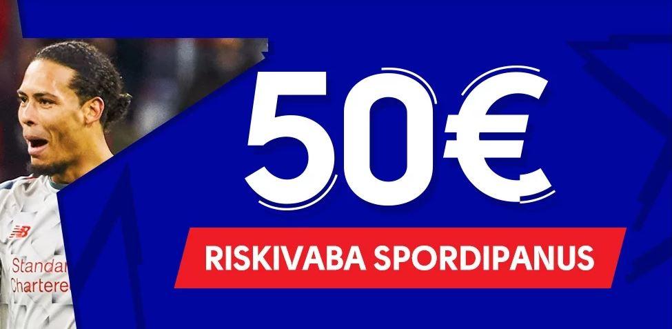 50€ Suurune Riskivaba Panus Meistrite Liigale